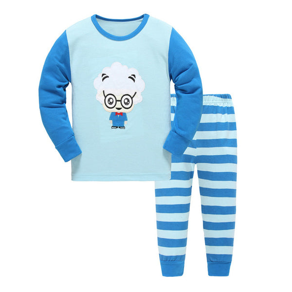 New spring autumn baby girl clothing cotton Pajamas Kids Clothes Princess Sleepwear Suit set long-sleeved+pant 2-7Y