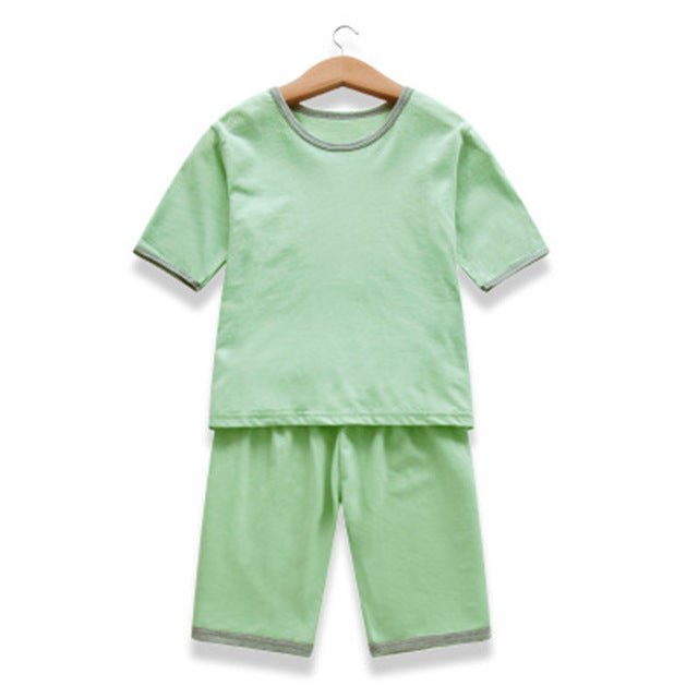 5844dc8d952e Children Summer Pajama Suits Boys Girls Short Sleeve Shirts+Shorts Kid |  JOHNKART.COM. }
