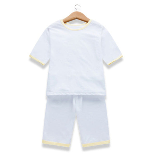 Children Summer Pajama Suits Boys Girls Short Sleeve Shirts+Shorts Kids Cotton Sleepwear Baby Casual Loose Clothing Sets D0002