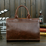 Vintage Briefcases Men Messenger Bags Brown Luxury Business Briefcase Document Lawyer Laptop Bag