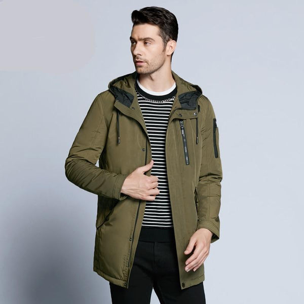 new autumnal men's jacket short casual coat overcoat hooded man jackets high quality fabric men's cotton MWC18228D