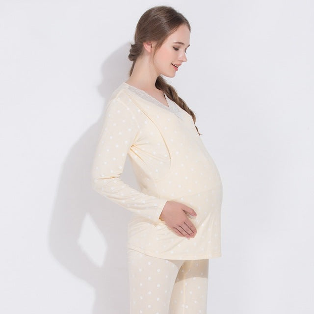 JOHNKART.COM.  44.25 USD. Pajamas Maternity sleepwear pajamas maternity  clothes for pregnant women motherly nightgowns nursing ... b35d121d4