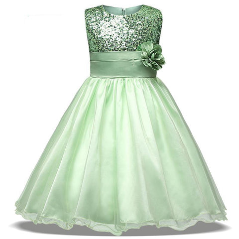 New Arrival Flower Girl dresses For Wedding Party With Sequins First Communion Dresses Formal Wear Cheap Price