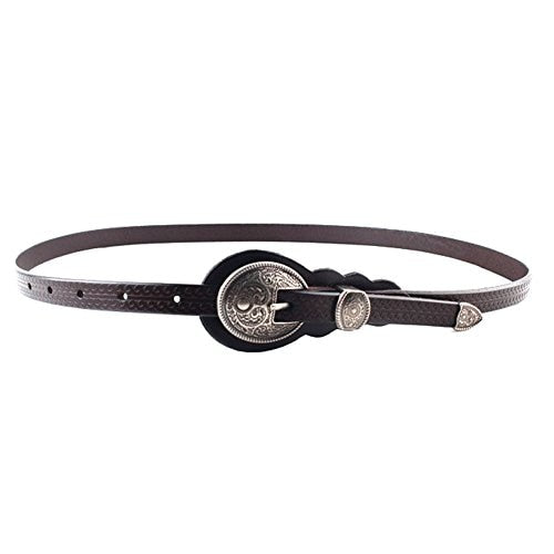 Thin Belts for Women belt Lady's Vintage Original Leather Designer Belt Metal Buckle Female Belt