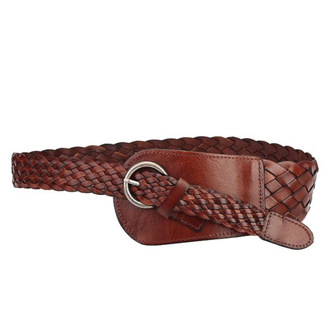 Wide Belts for Women Braided Leather Belts Luxury Brand Women Belt for Dress