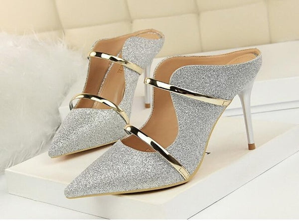 women shoes extreme high heels sexy high heels shoes woman gold silver wedding shoes stiletto slingbacks pumps