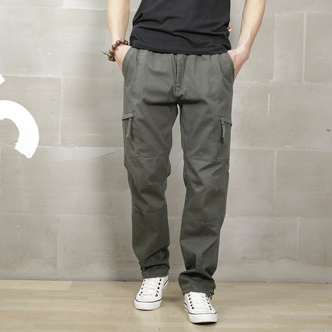 Cargo Pants Loose Khaki Cargo Pants Men Casual Elastic Waist Military Cargo Pants Men Army Green Summer Male Trousers