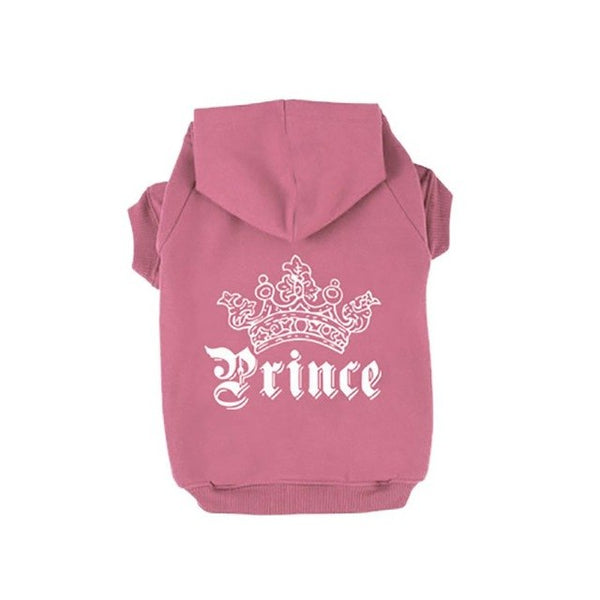 Pet Dog Prince Hoodie Jackets Clothes Small Puppy Coat Clothing Costume Apparel In Autumn Winter
