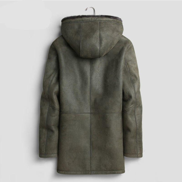 Men Genuine Leather Shearling Jackets and Coats Real Liner Winter New Warm Thick Outerwear Luxury E1713