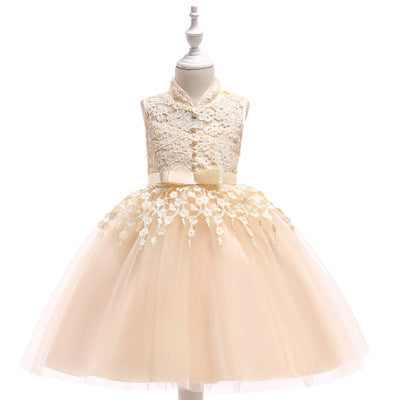 12a621ff4d1b Girls Pageant Dresses Cap Sleeves Blue Ball Gown High Neck Appliques ...