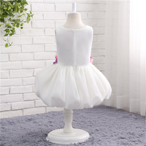 White Flower Girl Dresses For Weddings Ball Gown Tulle First Communion Dresses For Little Girls