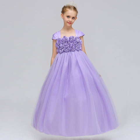 Flower Girl Dresses Holy Communion Dress Red Liac Tulle Vestidos Pageant Dresses For Little Girls Ball Gown