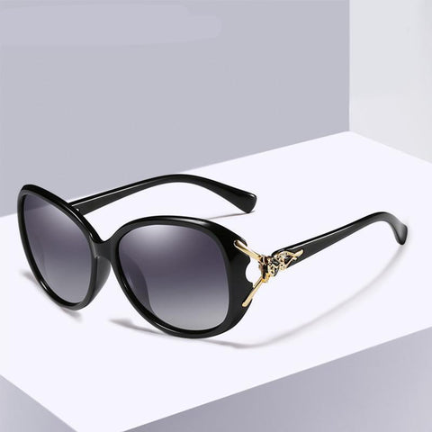 HD Sunglasses Polarized Retro Big frame Fox luxury Eyewear Lady Brand Designer Sun glasses Oculos de sol