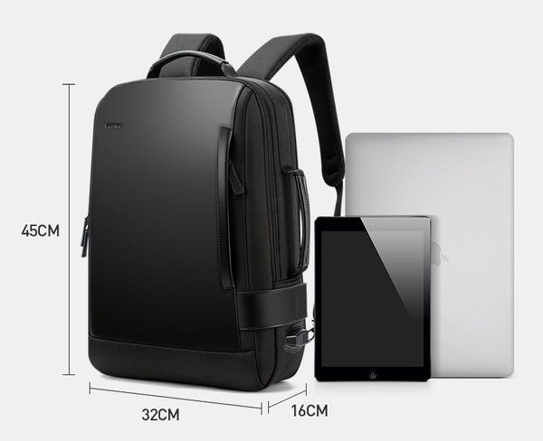 Enlarge Backpack USB External Charge 15.6 Inch Laptop Backpack  Shoulders Men Anti-theft Waterproof Travel Backpack