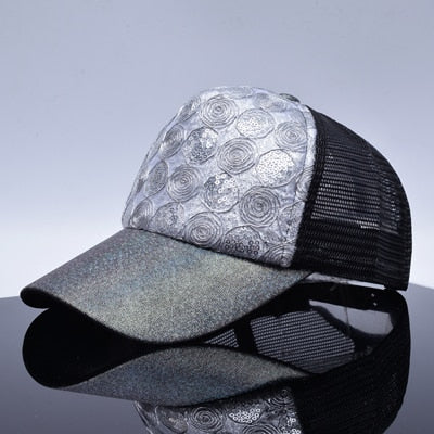 ... Ladies summer bone diamond embroidery baseball caps women snapback hip  hop cap girl casual meshs hats ... a07e265f05f