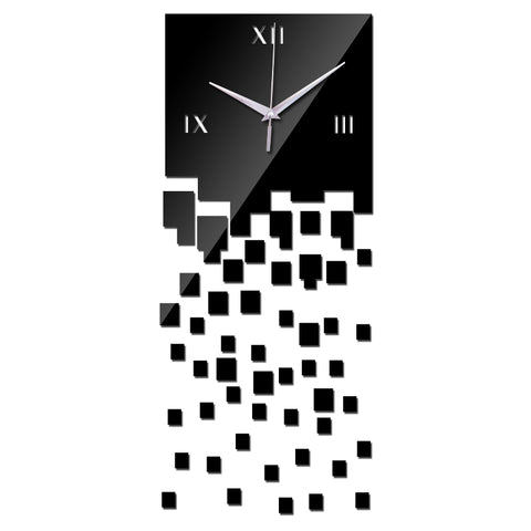 new wall clock home decoration living room quartz Watch  modern design luxury acrylic mirror 3d  stickers