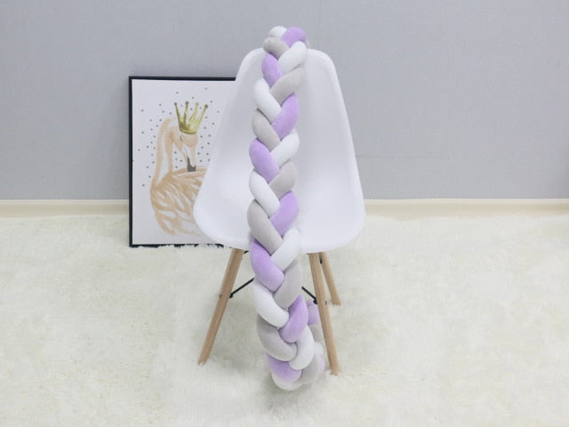 Long Knotted Braid Pillow Sofa Cushion Baby Bed Bumper In The Crib 1 2 3 4 Meter