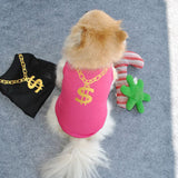 Spring / Summer Pet Dog Clothes For Small Dogs Breathable Pet Cat Vest Clothing Pet Tshirt Dog Shirt  Chihuahua Pug Costumes