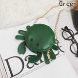 Fashion Key Wallet New Personality Small Crab Mini Key Case Female Package PU Leather Women Bag Coin Purse Strap Small Bag