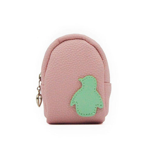 Kids Cute Dolphin Star Penguin Coin Purse Mini Girl Female Coin  Wallet Keychain Leather Multifunction Dolphin Car Bag