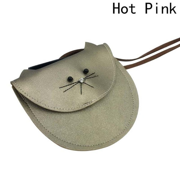 Small Cat Messenger Bag For Kids Baby Girls Cute Cat Coin Purse Mini Shoulder Bag Children Small Bag
