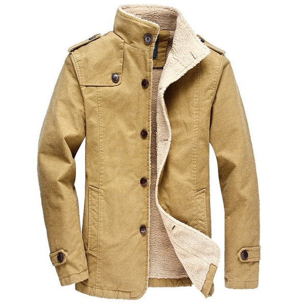 Winter Warm Bomber Jacket Men Long Parkas Casual Fleece Coat Military Jacket Male Pilot Jacket Overcoat Plus Size 5XL 6XL