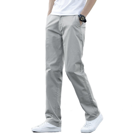 Stretch Men's Casual Pants Men Spring Summer Plus Size Loose Business Work Trousers Simple Fashion Male Pants BM221