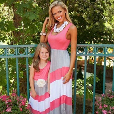 0296c14edc ... summer matching mother daughter dresses clothes long maxi dress family  look mommy and me clothes mom ...