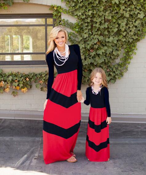 7bf1a50cb6 ... summer matching mother daughter dresses clothes long maxi dress family  look mommy and me clothes mom