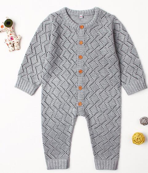 e2863e197c3 ... New Born Baby Clothes Autumn Newborn Baby Boy Girl Clothes Infant Baby  Knitted Romper Girls Jumpsuit ...