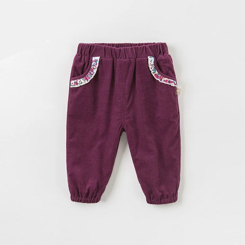 Autumn baby girls clothing children full length kids pants infant toddler trousers