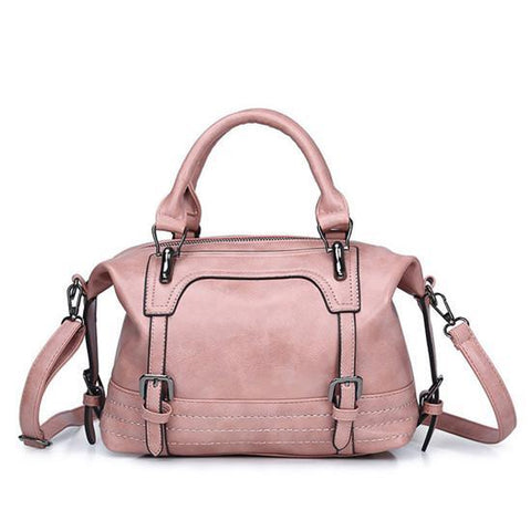 Women Vintage Bag Women's Leather Handbags Luxury Ladies Hand Bags Women Messenger Bag Tote Sac a Main Bolsos Mujer Pink