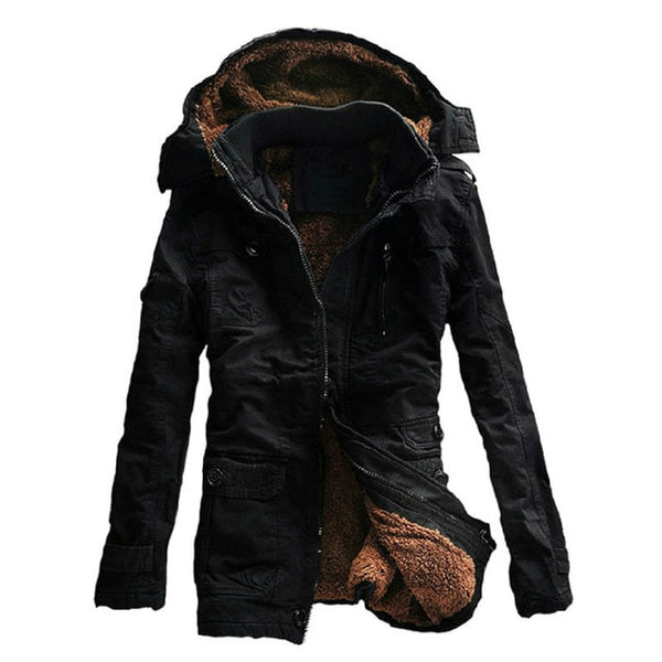 New Arrival Thick Warm Winter Jacket Men Casual Slim Hooded Parka Men High Quality Mens Coat