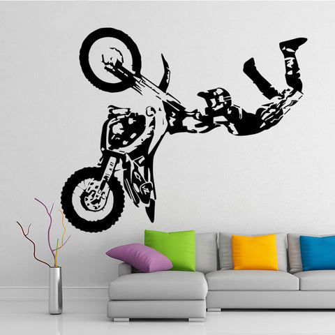 Motocross Wall Sticker Creative Moto Bike for Living Room Bedroom Home Decoration Accessories Removable Vinyl Wall Stickers