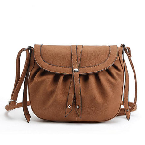 9efc2eb58163 Women Small Crossbody Messenger Bags PU Leather Saddle Bags Ladies Shoulder  Bags Female Vintage Bag Bolsas