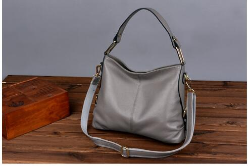 high quality genuine leather women's shoulder bag big capacity cowhide leather cross body bag European style handbag