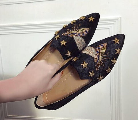 New Women corduroy Flats Fashion Basic Mixed Colors Pointed Toe Ballerina shoes Flat loafers Slip On women single Shoes F215