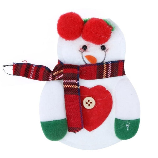 Christmas Bag Dinner Table Cutlery Holder Decoration for Home Snowman Santa Claus Holder