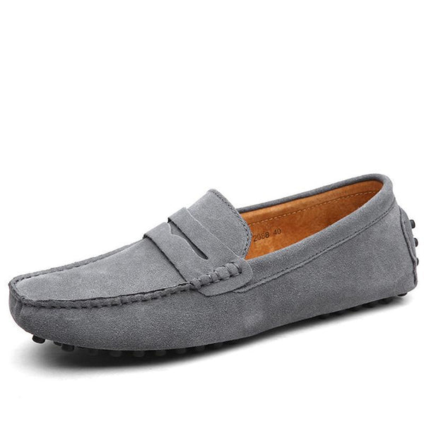 Fashion Summer Soft Moccasins Men Loafers Men Casual Suede Leather Loafers Slip On Gommino Driving Shoes Flats 38-49