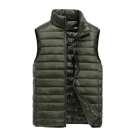 Men's Ultralight Duck Down Vest High Quality Men's Light Down Coat Sleeveless Jacket Simple Design