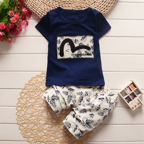 Bibicola baby boy summer clothing sets children clothes baby boy clothes set boy top t-shirt + shorts toddler boys cotton suit