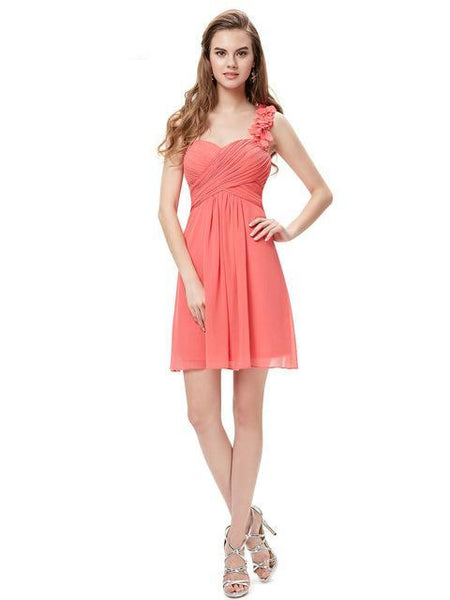 Cocktail Dresses Pink Chiffon Short Dresses Elegant Ever Pretty EP03535 A Line Special Occasion Party Dresses