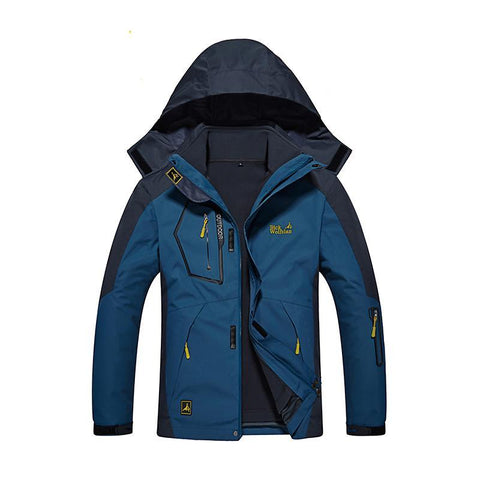Winter jacket new men's Female jacket Stitching Hooded Thickened Keep warm jacket Windproof Waterproof jacket coat 2 in 1 jacke