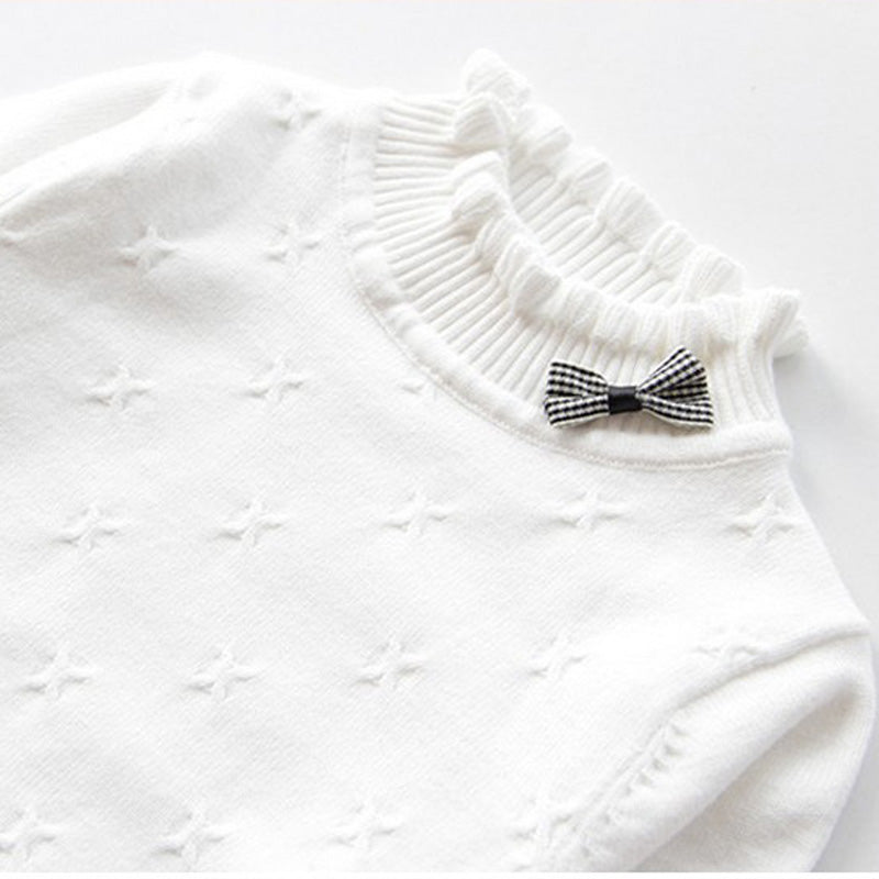 Autumn and Winter Baby Girls Sweaters New Fashion Girls Clothing Bow Cotton Girls Sweaters and Pullover