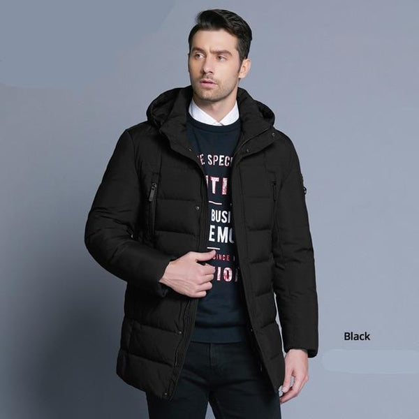 new winter men's jacket with high quality fabric detachable hat for male's warm coat simple mens coat MWD18945D