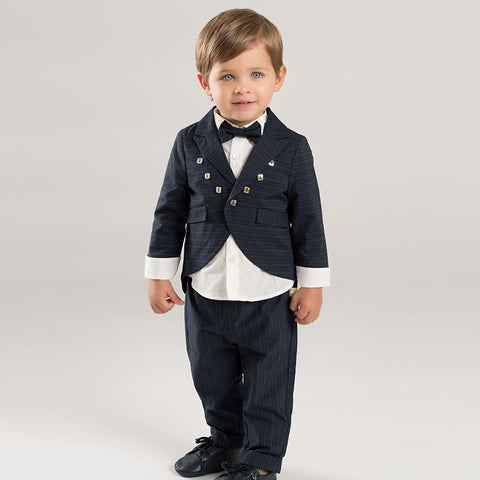 3 PCS autumn Little gentleman clothing sets baby boys party wedding formal wear children's long sleeve suit