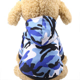 pawstrip 3 Patterns Classical Camouflage Dog Clothes Warm Puppy Hoodie Soft Pet Dog Coat Winter Dog Costume For Poodle XS-XXL