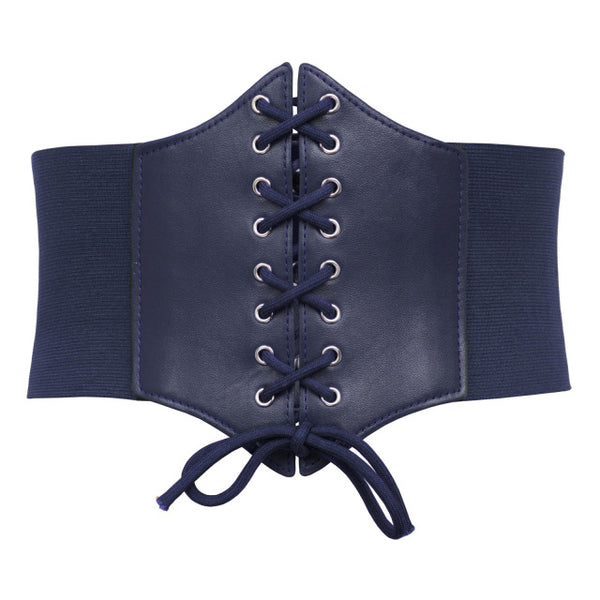 Corset Belt For Womens  Fashion Lace Up Leather Luxury Belt Cinch Tie Corset Waist Wide Belt Waistband