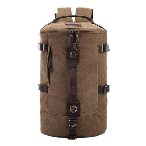 Large Capacity Men's Bag Mountaineering Backpack male camping tourist Travel Cylinders Canvas Cylinder Hiking Dailypack