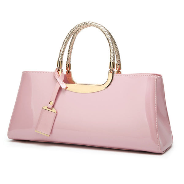New Women Bag Luxury Brand Bright Paint Leather Wedding Banquet Shoulder Bag Portable Wedding Handbag for Ladies